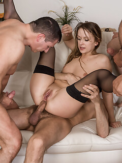 Stockings Gangbang Pictures