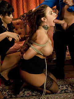 Stunning Women In Stockings Is Trying Bondage