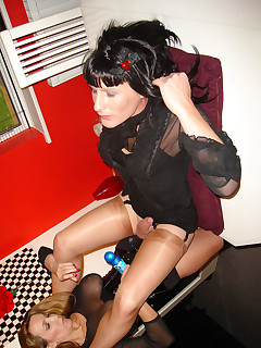 Beautiful Crossdressers In Nylon Stockings