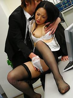 Stunning Japanese In Stocking Fucked