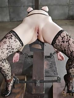 Stunning Women In Stockings Is Trying Bondage